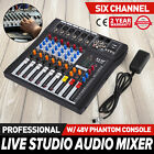 Vevor 6 Channel Audio Mixer Mixing Console with Power Amplifier Function G0F4