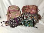Vera Bardley Lot Of Purses And 1 Wallet Floral Pattern Pink Purple Green