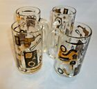 Rare Vintage Federal Beer Mugs Set of 4 Black and Gold Car Parts Archer