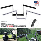 1 Drag Z Bar Handlebar For Harley Softail Dyna Sportster XL883 XL1200 1000 1100