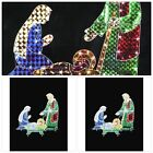 3 Piece Holographic Lighted Christmas Nativity Set Outdoor Decoration 42