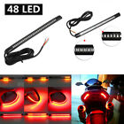 1X 48 LED Flexible Motorcycle Brake Turn Signal Stop Tail Light Integrated Strip