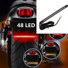 48 LED Flexible Motorcycle Tail Light Strip Brake Turn Signal Stop Integrated