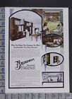1913 HOME DECOR KITCHEN DESIGN BRUNSWICK REFRIGERATOR ICE MAKER PLANT AD DO02