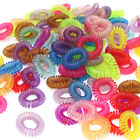 US 30pcs Girl Elastic Rubber Hair Ties Band Rope Ponytail Holder Spiral HairBand