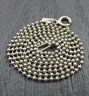 Vintage Sterling Silver Beaded Chain Link Necklace 18 inches  Italy