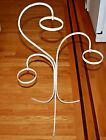 Vintage Wrought Iron Hanging Pots/ Stand Rack Shabby White Mid Century Modern