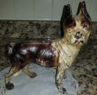 Antique Hubley Cast Iron Figural Dog Statue Doorstop Brown 9