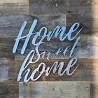 Rustic Home Sweet Home 15 x 14 Farmhouse Metal Words Kitchen Motivational