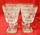 Vtg Indiana Glass Clear Colony PARK LANE Wine /Juice Glasses/Goblets SET OF FOUR