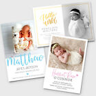 New Baby Thank You Cards Personalised Photo Birth Announcement Girl Boy