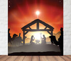 Christmas Nativity Play Grotto Large Digital Print Scene Setter Wall Backdrop