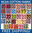 College Cotton Fabric NCAA All Teams Sport Collection 45 Wide Free Shipping