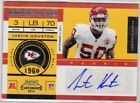Justin Houston KC Chiefs 2011 Contenders Rookie Ticket AUTO - Rare!