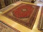 10 x 13.7 Hand Knotted Fine Quality Antique 1940s Persian Rug _ Soft Fine Wool
