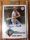 2003 Topps Ozzie Smith Certified Autograph Issue Refractor #TA-OS Uncirculated