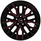4 GWG Wheels 18x8 inch Black Red Rims fits FORD FIVE HUNDRED 500 2005 2007