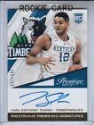 2015-16 PANINI PRESTIGE KARL-ANTHONY TOWNS ROOKIE ON CARD AUTO 260 299 RC HOT