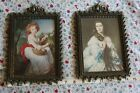 Set of 2 Vtg. Metal Picture FRAME Filigree Ornate made Italy Victorian Style