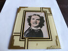 art deco reverse painted picture frame with original movie star picture