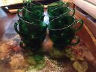Vintage Anchor Hocking Forest Green Punch cups - Set of 12 - Collectible Glass