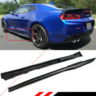 For 2016 2020 Chevy Camaro LT SS RS Matt Black ZL1 Style Side Skirt Extensions