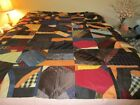 Antique Silk Crazy Quilt Top 1800's