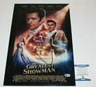 ACTOR HUGH JACKMAN SIGNED 'THE GREATEST SHOWMAN' MOVIE POSTER BECKETT COA PROOF