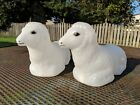 New Set of 2 Small 10 Sheep Blow Mold for Table Top Miniature Nativity Set