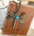Animal Necklace Natural Stone Dragonfly Pendant Jewelry Fress Shipping 125456