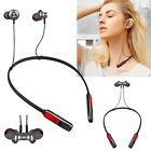 Bluetooth Headset Magnetic Earbud Noise Cancelling Earphone For Sports Women Men