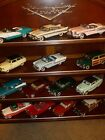 1950S DIECAST CARS OF THE FIFTIES 14 CARS FRANKLIN MINT 148 WITH DISPLAY SHELF