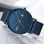Men's Watch Luxury Watches Unisex Ultra Thin Wristwatches Stainless Steel Adults