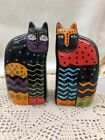 LAUREL BURCH CAT SALT  PEPPER SHAKERS 4 1 2 TALL