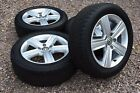 Genuine 16 VW Golf Mk7 Devon Alloy Wheels 205 55R16 Dunlop Tyres 5G0601025BP