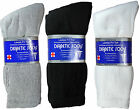 3-12 Pairs Diabetic Crew Mid-Calf Circulatory Socks Health Mens Cotton All Size