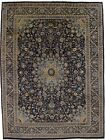Beautiful Hand Knotted Navy Kashmar Persian Wool Rug Oriental Area Carpet 10X13
