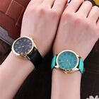 Women's Watch Casual Quartz Leather Strap Analogs Round Stainless Steel Glass