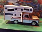 124 Scale Diecast 2 piece Set Gold  White 1969 Ford F 100  Plastic Camper