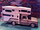 124 Scale Diecast 2 piece Set Gold  White1966 Chevy C 10  Plastic Camper