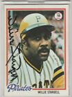 1978 Topps #510 Willie Stargell Baseball Card Autographed