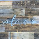 Rustic Home Love with an Arrow 24 x 8 Farmhouse Metal Words Kitchen Wall Decor