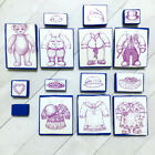 Victorian Paper Doll Bears Rubber Stamp Set 15 Teddy Family Fashion Vintage 90s