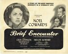 BRIEF ENCOUNTER rare original 1945 Title Lobby Card David Lean Trevor Howard