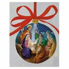 Caspari Boxed Christmas Cards Nativity Ornament Box of 16 88309