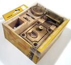MID-CENTURY FRONT DOOR SAFETY LATCH NATIONAL LOCK 1970 VINTAGE NEW IN BOX w KEY