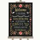 Wedding Sign Chalk Style Blush Pink Rose  Gold Welcome Order Of The Day