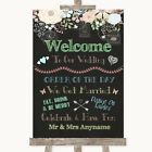 Wedding Sign Poster Print Shabby Chic Chalk Welcome Order Of The Day