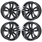 18 AUDI A4 ALLROAD BLACK CHROME WHEELS RIMS FACTORY OEM SET 59013 EXCHANGE