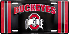 Ohio State Black License Plate Sign Tag Wall Sign Man Cave FAST USA SHIPPING
